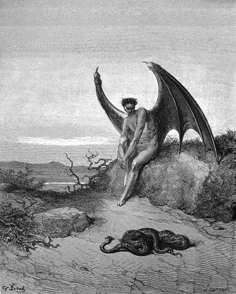 Lucifer -  Gravura de Gustave Doré