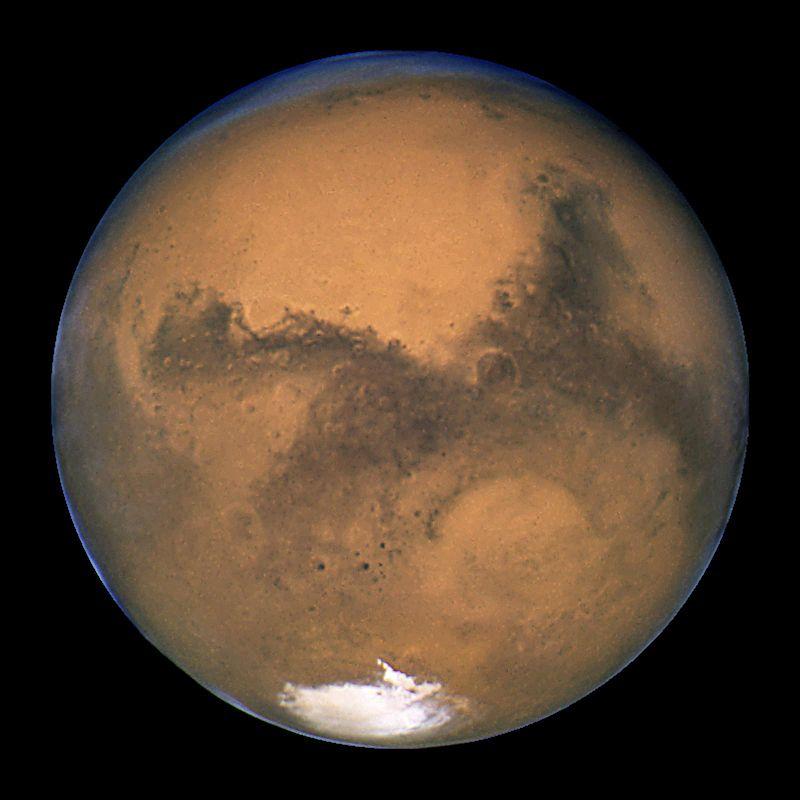 Marte. Foto NASA, ESA, Hubble. Sursa Wikipedia.