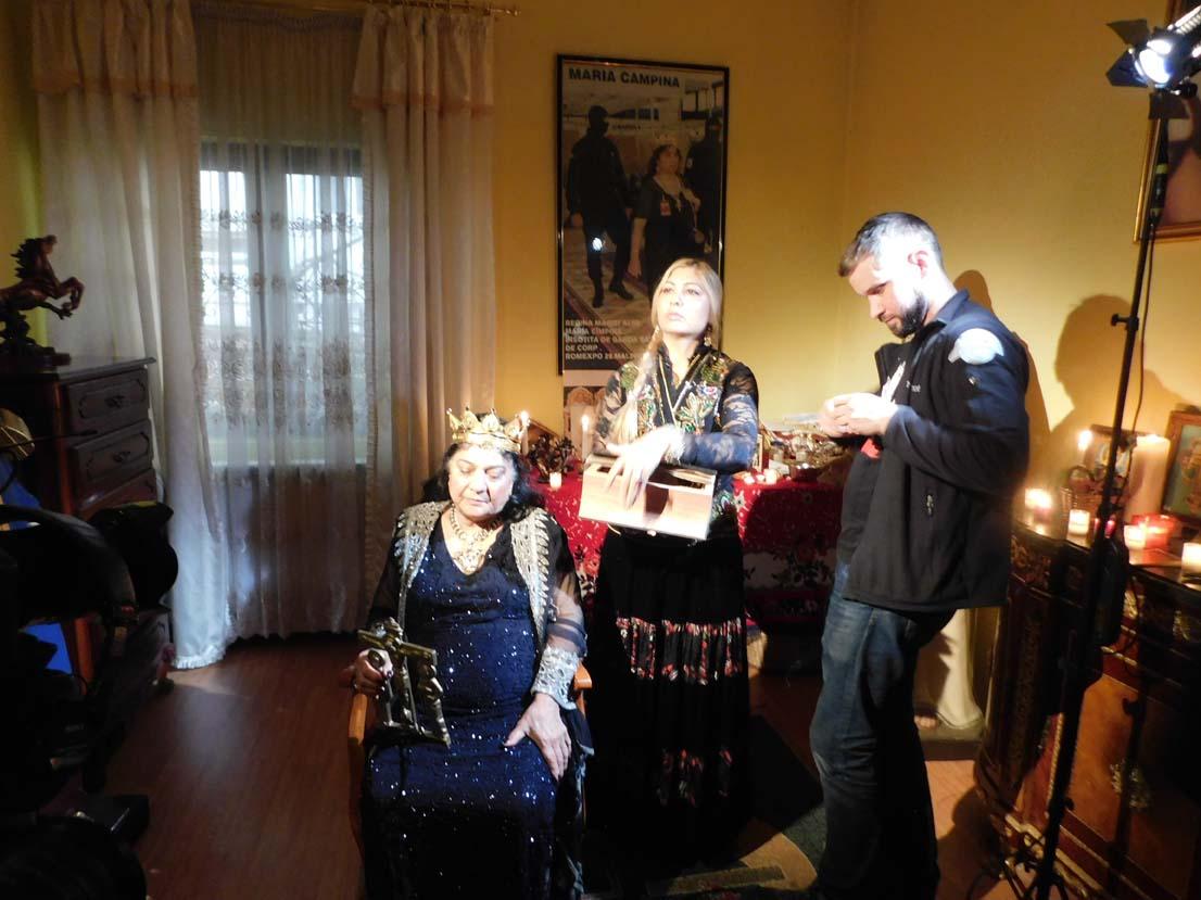 Celebra tămăduitoare Sunita a filmat recent cu jurnaliștii ruși de la TVC Moscova